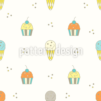 Muffin and Ice Cream Design Pattern