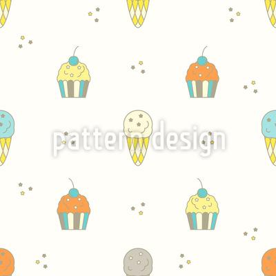 Muffin und Eis Designmuster