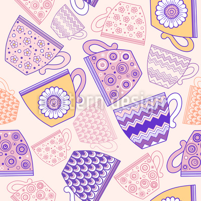 Cup of Coffee or Tea Seamless Pattern