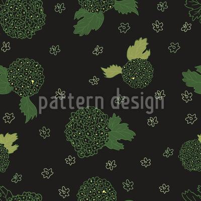 Feld-Blumen in der Nacht Vektor Muster