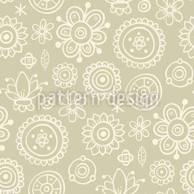 Verblassende Blumen Muster Design