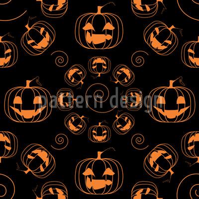 Gruselige Halloween Kürbisse Musterdesign