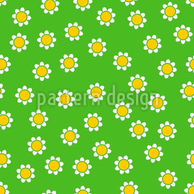Chamomile In The Grass Vector Ornament
