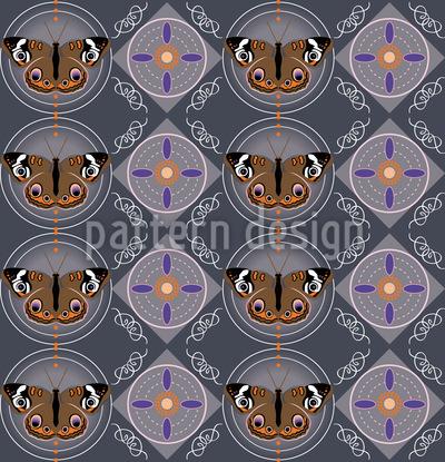 Peacock Butterflies Seamless Vector Pattern Design