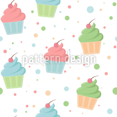 Muffins With Topping Repeating Pattern