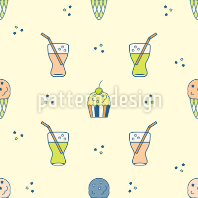 Summer Food Pattern Design