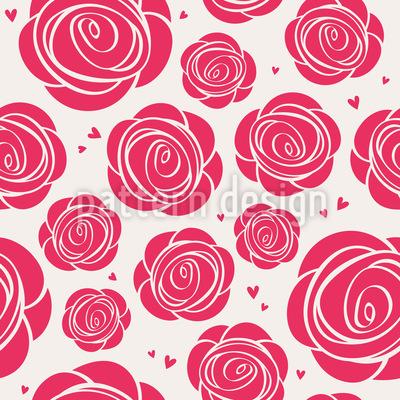 Rosen Und Herzen Musterdesign