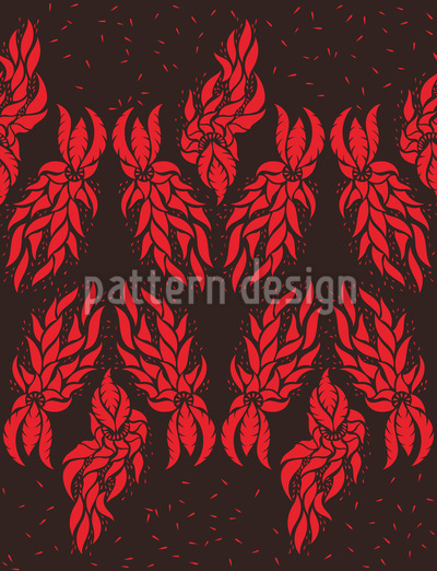 Abstract Poinsettia Seamless Vector Pattern