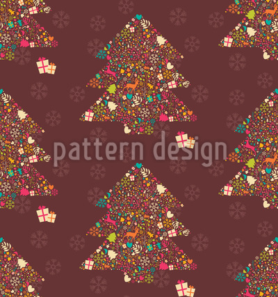 Embellished Christmas Trees Pattern Design