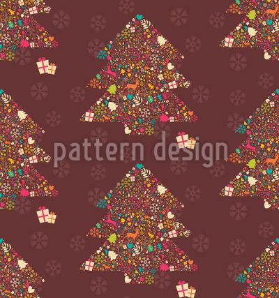 Verzierte Weihnachtsbäume Musterdesign