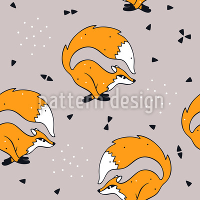 Run Fox Run Seamless Pattern