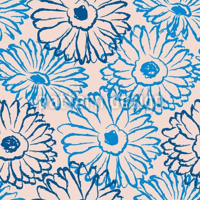 Hangezeichnete Gänseblümchen Muster Design