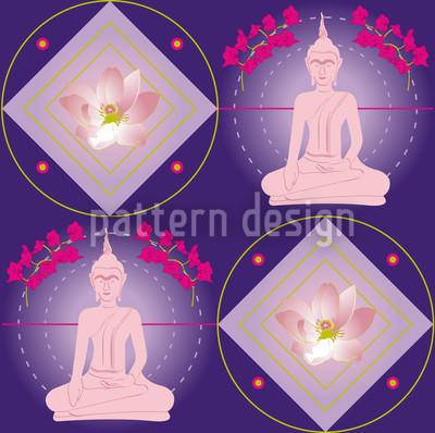 Bangkok Lilaq Seamless Vector Pattern