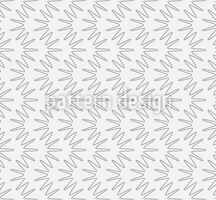 Wellenförmige Stern Streifen Vektor Muster