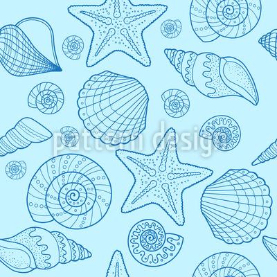 Muschel und Seestern Rapportmuster