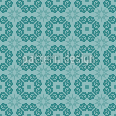 Verzierte Blüten Muster Design