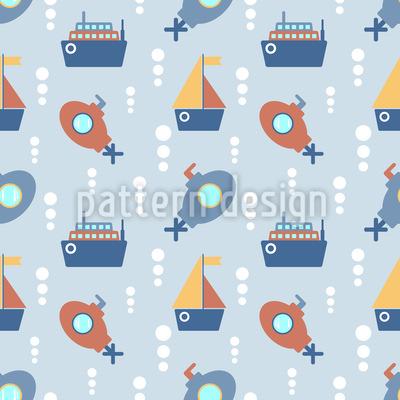 Schiffe und U-Boote Nahtloses Muster