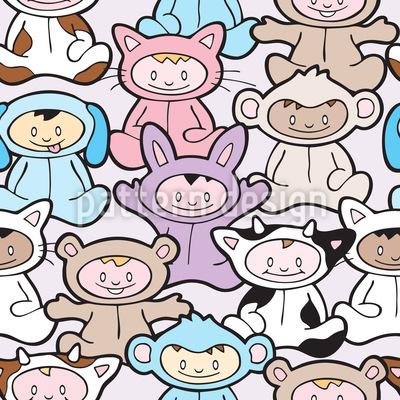 Pyjama Party Nahtloses Vektormuster