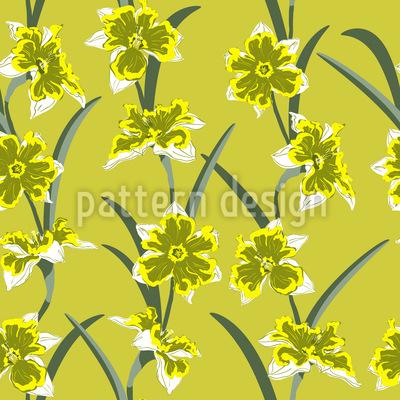 Frische Narzissen Muster Design