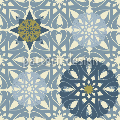 Gilt Snowflakes Vector Pattern