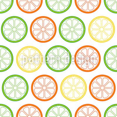 Leckere Zitronen Scheiben Muster Design