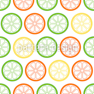 Yummy Lemon Slices Pattern Design