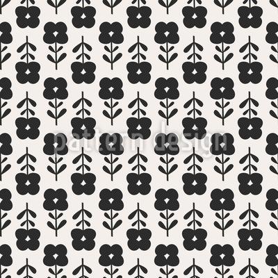 Sechziger Blumen Nahtloses Muster