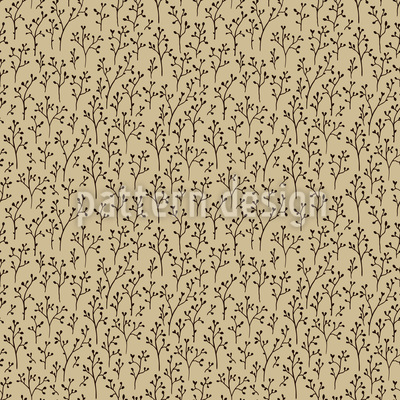 Saplings Seamless Vector Pattern