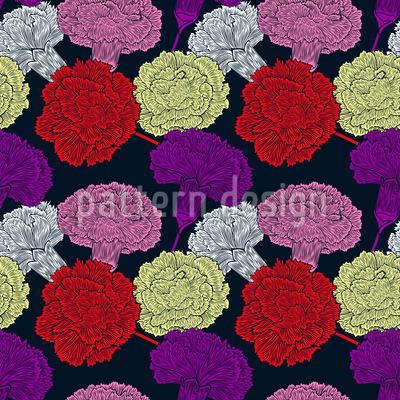 Nelken Blüten Designmuster