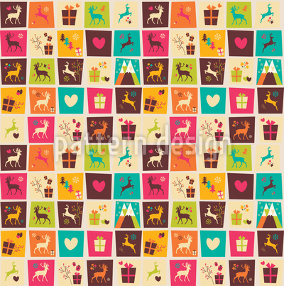 Christmas Quilt Vector Design