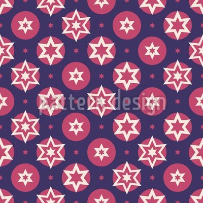 Stars And Dots Vector Ornament