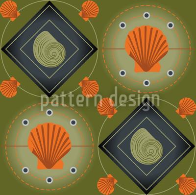 Mitilo Verde Seamless Vector Pattern Design