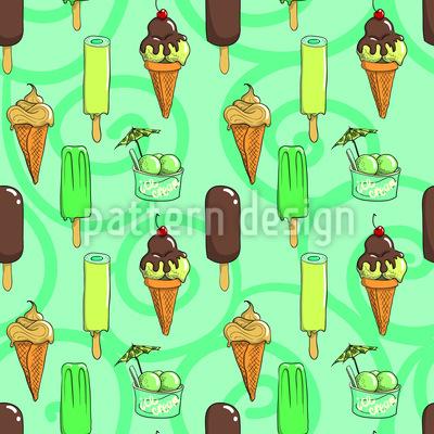 Lemon And Chocolate Ice Creams Pattern Design