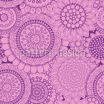 Abstrakte Blumen Rapportiertes Design