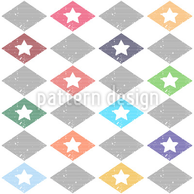 Rhombus And Star Seamless Pattern