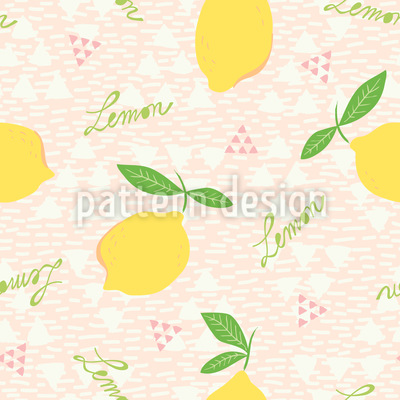 Lemons And Triangles Vector Pattern