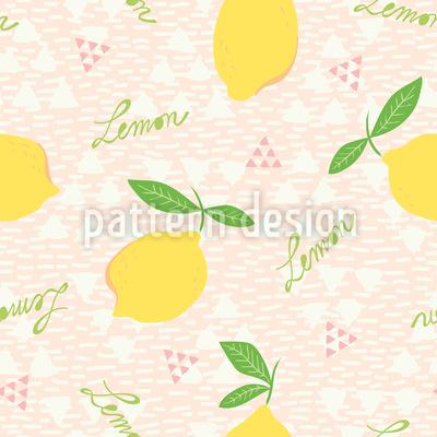 Zitronen und Dreiecke Vektor Muster