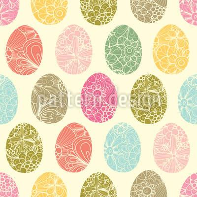 Easter Egg Decoration Seamless Vector Pattern