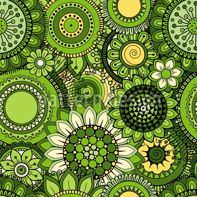 Blumen Inspiration Nahtloses Vektor Muster