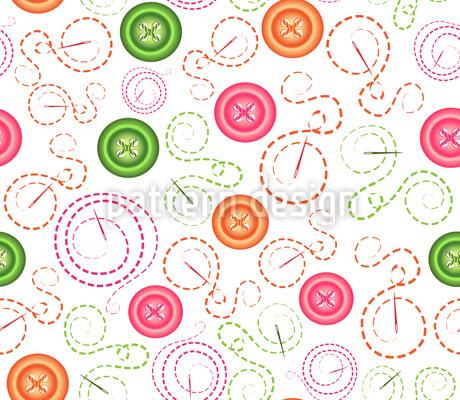 Knöpfe und Nadeln Vektor Muster