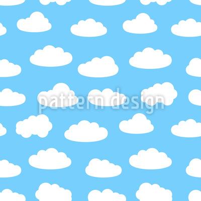 Cloudy Summer Sky Pattern Design