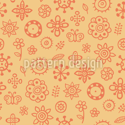 Summer Scrapbook Seamless Vector Pattern