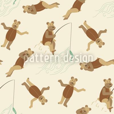 Bären am Strand Muster Design