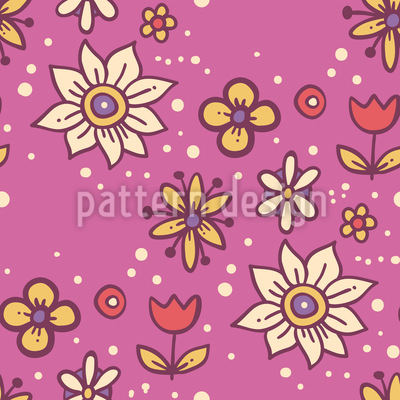 Magic Of Flowers Vector Pattern
