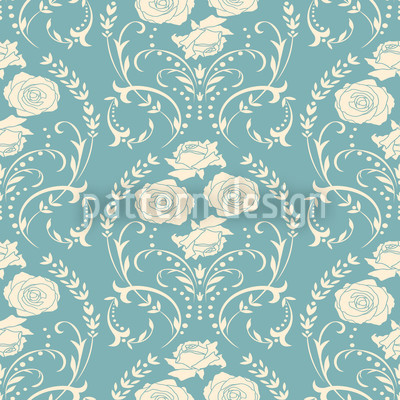 Rose Blue Pattern Design