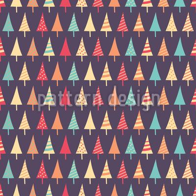Monochrome Weihnachtsbäume Rapportmuster