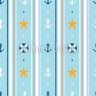 Seefahrer Tapete Nahtloses Vektormuster