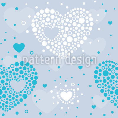 Punktierte Herzen Nahtloses Vektor Muster