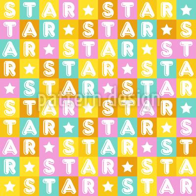 Bunter Stern Musterdesign