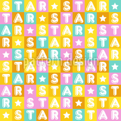 Colourful Star Pattern Design